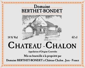 Étiquette Jean Berthet Chateau Chalon