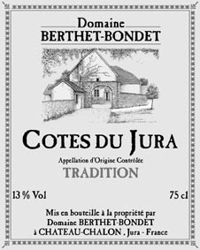 Étiquette Jean Berthet Tradition